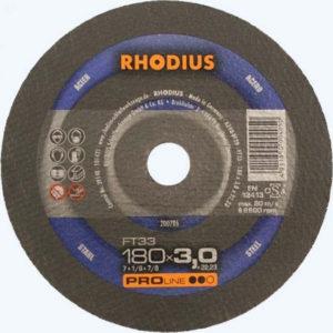 Τροχός Κοπής Rhodius 180×3.0 Σιδήρου
