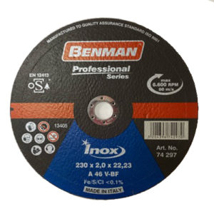 Τροχός Κοπής Benman 230×2.0 Inox