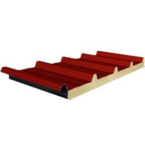 Πάνελ Οροφής Τραπεζοειδές πάχους 50mm Χρώμα Κόκκινο