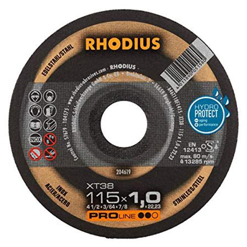 Τροχός Κοπής Rhodius 115×1.0 Inox