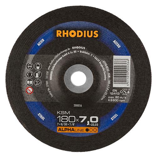 Τροχός Λειάνσεως Rhodius 180×7.0