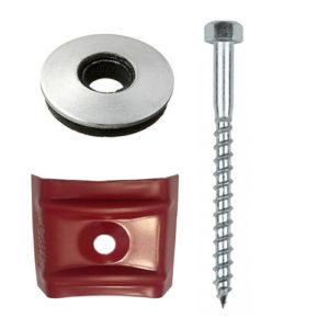 Στριφόνι 6mm με ροδέλα Neopren 19mm και καλύπτρα για πάνελ οροφής