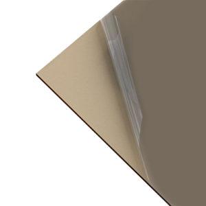 Πολυκαρβονικό Συμπαγές Επίπεδο 3mm Mπρονζέ 2.05×1.52m