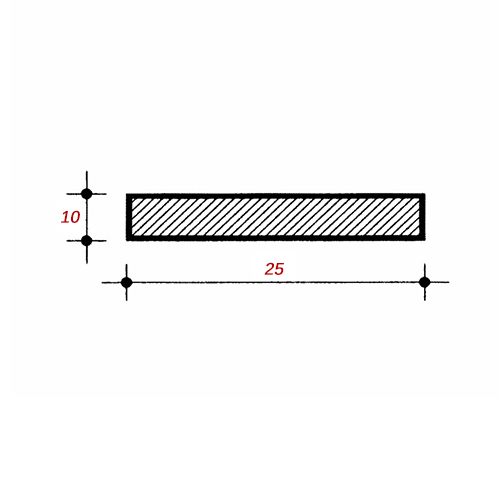 Λάμα 6m Μαύρη 25x10mm