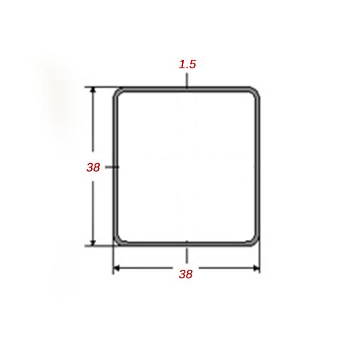 Στραντζαριστό 5m Γαλβανιζέ 38x38x1.5mm