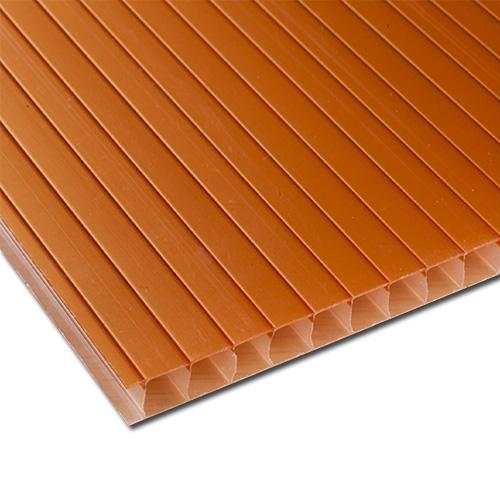 Πολυκαρβονικό Κυψελωτό Σκίασης 10mm Πορτοκαλί 1.05×6.00m
