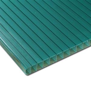 Πολυκαρβονικό Κυψελωτό Σκίασης 10mm Πράσινο 1.05×3.00m