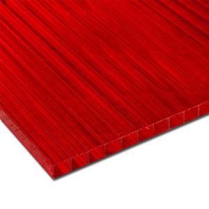 Πολυκαρβονικό Κυψελωτό 8mm Κόκκινο 2.10×3.00m