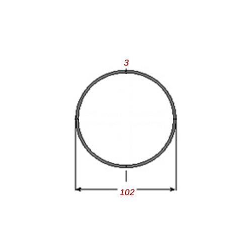 Σωλήνα 6m Μαύρη Φ102Χ3mm