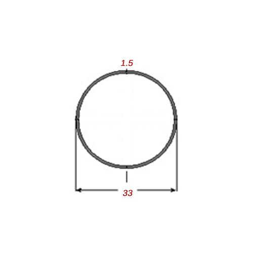 Σωλήνα 6m Μαύρη Φ33Χ1.5mm