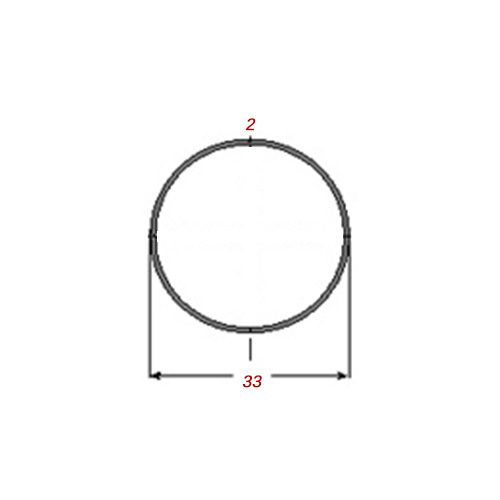 Σωλήνα 6m Γαλβανιζέ Φ33Χ2mm