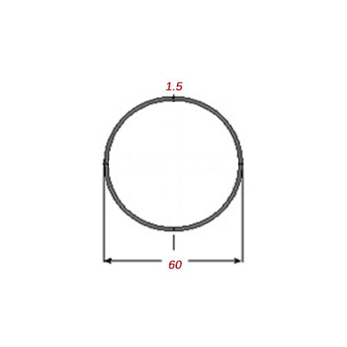 Σωλήνα 6m Μαύρη Φ60Χ1.5mm