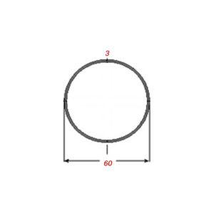 Σωλήνα 6m Μαύρη Φ60Χ3mm