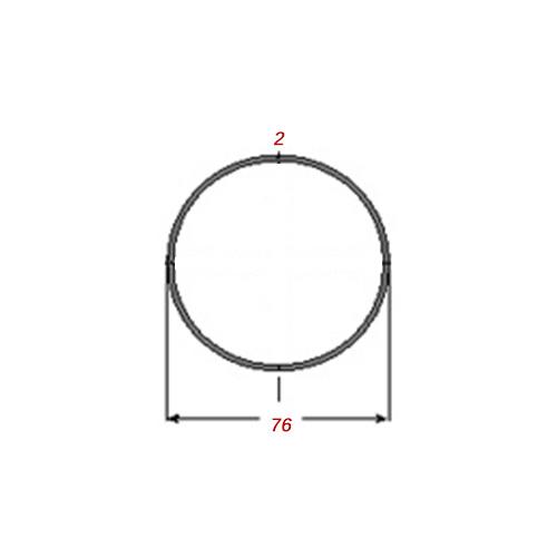 Σωλήνα 6m Γαλβανιζέ Φ76Χ2mm