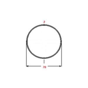 Σωλήνα 6m Μαύρη Φ76Χ3mm