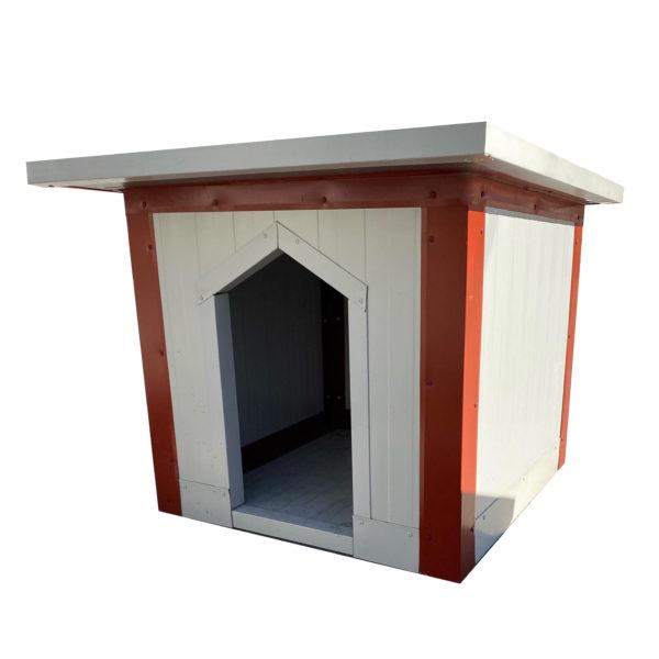 Σκυλόσπιτο με Επίπεδη Οροφή 80x80x80cm