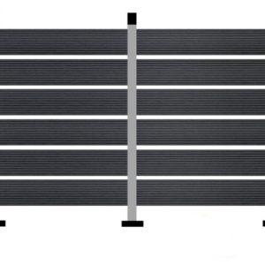 WPC DECK Περίφραξης Μαύρο 2900x110x20mm