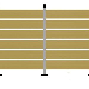 WPC DECK Περίφραξης Κρεμ 2900x110x20mm