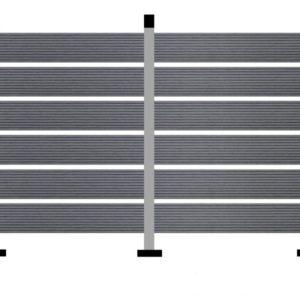 WPC DECK Περίφραξης Γκρι 2900x110x20mm