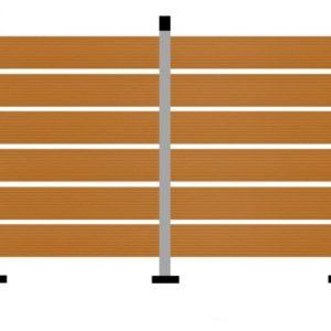WPC DECK Περίφραξης Μελί 2900x110x20mm